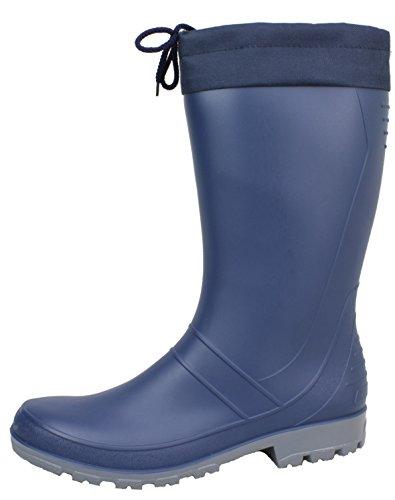 BOCKSTIEGEL® AXEL Uomo - Stivali di gomma di alta qualità (Taglie: 36-47) Dk-Blue/Grey