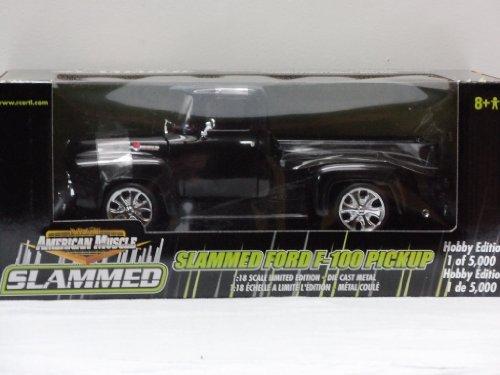 Slammed Ford F-150 Pickup 1:18 Scale Die Cast Truck - Black by ERTL
