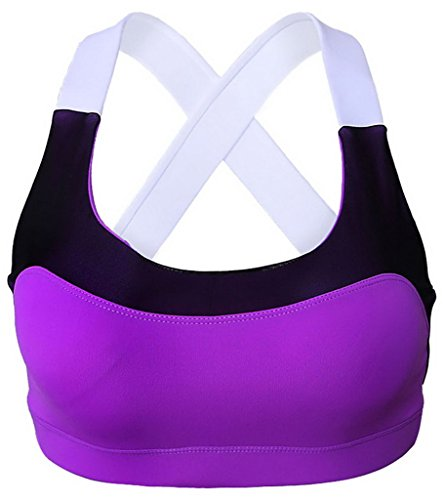 Y-BOA Soutien-Gorge Haut Gilet Sport Gym Yoga Top Fitness Stretch Pourpre