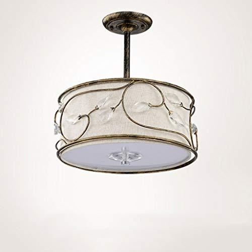 Kreative Deckenleuchte Jiaqi licht luxus led deckenleuchte einfache esszimmer wohnzimmer schlafzimmer kristall kronleuchter mode stoffbezug schmiedeeisen deckenleuchte [energie a + +] Deckenleuchte