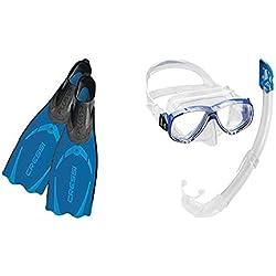 Cressi Pluma Palme de Plongée/Natation+ Cressi Perla Mare Premium Kits de Randonnée Aquatique