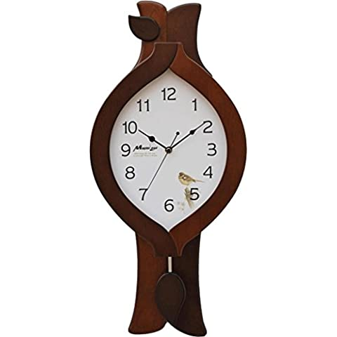 sala de estar moderna cocina europea de dormitorio de madera de arce den personalidad creativa pared de silencio oscilación del reloj del reloj de