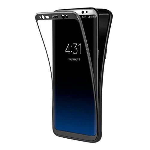 Funda Samsung Galaxy S8 Plus , ivencase Carcasa TPU Gel Silicona Suave Flexible Tapa Anti-rasguños Case Cover para Samsung Galaxy S8 Plus - Negro
