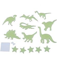 SODIAL(R) 13 x Pegatina Fluorescente de Estrella Dinosaurio Brillar en la Oscuridad