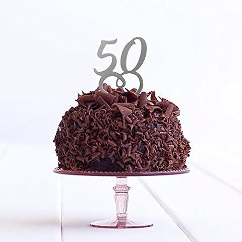 50anniversaire de fête d'anniversaire Âge 50e anniversaire de mariage Doré Acrylique pour gâteau