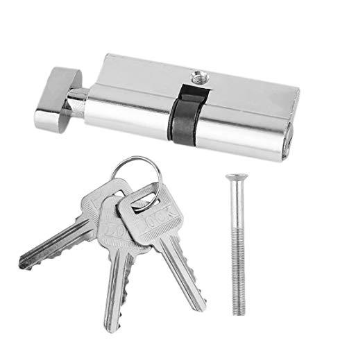 70mm Aluminium Metall Tür Schließzylinder Home Security Anti-Snap Anti-Bohrer Mit 3 Tasten Silber Ton Set Werkzeuge - Home-security-hardware