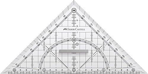 Faber-Castell 171010 - Geometriedreieck Grip mit Griff, 22 cm, 1 Stück