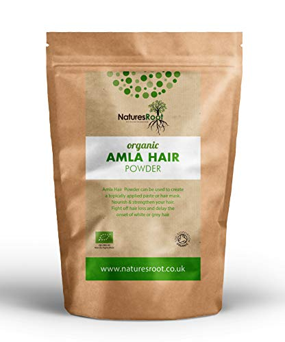 Natures Root Amla Pulver Bio 500g - Für Haarausfall - Haarwachstum - Minimiert Grautöne - Haar Amla öl
