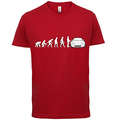 evolution-de-lhomme-mazda-mx5-homme-t-shirt-rouge-s