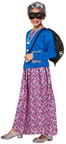 Fancy Me Kostüm für Mädchen, freche Oma TV-Film, Weltbuch für Tag und Woche, 4-12 Jahre (Mädchen, Gangster Kostüm)