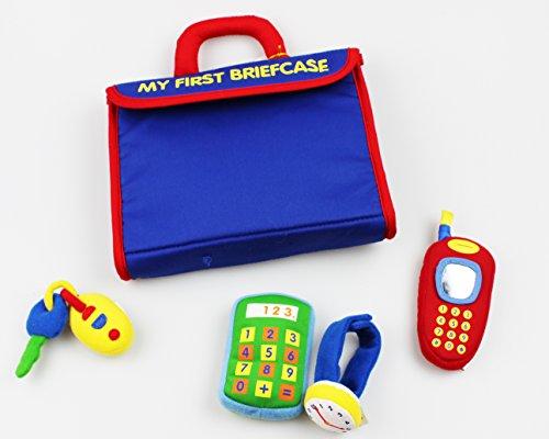 ' Meine erste Aktentasche mit Uhr , Handy , Schlüssel und Taschenrechner ' Qualitätsspielzeug mit Geräuschen von GUND Nr. 5854 - Motorik - Lernspielzeug mit vielen Entdeckungsfunktionen