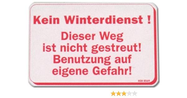 Streugut Hinweisschild Verbot Aluminium Schild W//S 10x15cm 23