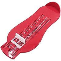 Delicacydex Calzado para niños Medida de los pies Herramientas de Ayuda Calculadora de tamaño Infantil Pies Infantiles Regla de medición Herramienta de Zapatos de bebé Calibrador Dispositivo - Rojo