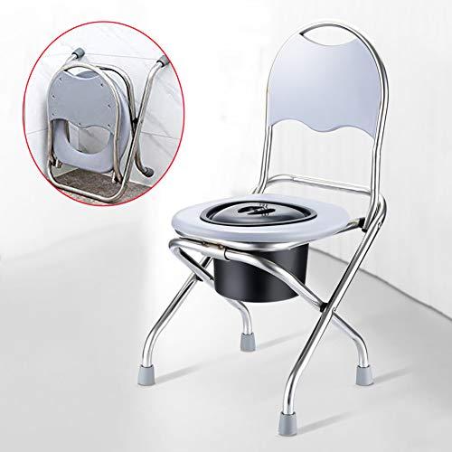 Medizinischer Transport Wc Rollstuhl - Toilettenstuhl,Faltbar - Tragbar, Schwere Edelstahl Multifunktions-duschstuhl