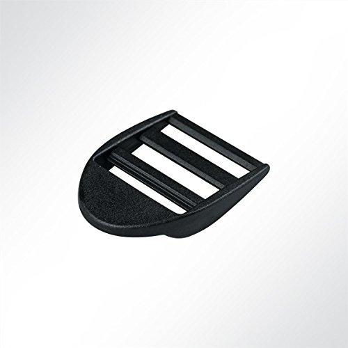 LYSEL Kunststoff Doppelschieber/Doppelschlaufen/Plastikschieber, (BxL) 30x41mm in Schwarz (1 Stück)