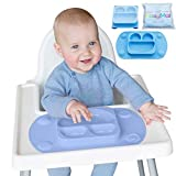 EasyMat Portable Baby Suction Plate (Mini, Blue)