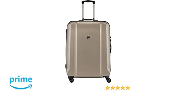 71 cm TITAN Trolley Xenon Deluxe with 4 wheels Size M+ in champagne Valise Beige 117 liters