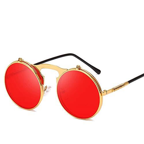 Sonnenbrillen, Neue Runde Sonnenbrillen, Steampunk-Retro-Sonnenbrillen, Universelle Sonnenbrillen Für Herren Und Damen (6,134 * 148mm)