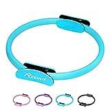 REEHUT Cerchio Pilates Cerchio Fitness Anello Pilates Ring Pilates Circle Magic Circle Resistente con Doppio Manico Antiscivolo per Allenamento Formazione Esercizi di Nucleo Coscia Branccia - Blu