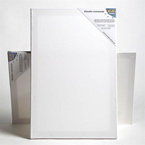 BK BILDERRAHMEN KOLMER 6 PREMIUM STRETCHED BLANK CANVASES 40x60 cm ~16x24 in canvas on stretcher bars
