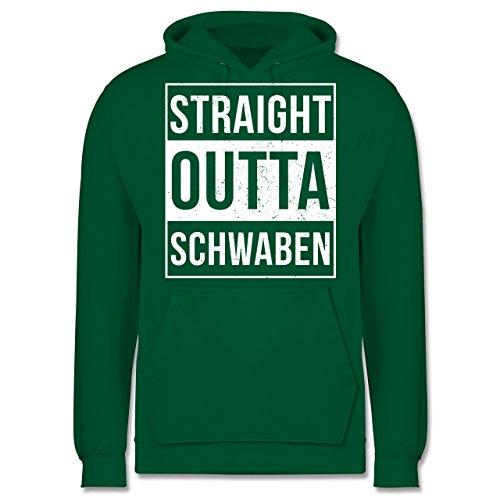 Schwaben Männer - Straight Outta Schwaben Weiss - JH001 Herren Kapuzen Pullover Grün