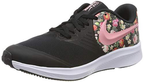 Nike Mädchen Star Runner 2 VF (GS) Sneaker, Schwarz (Black/Pink Tint-Pale Ivory-White 001), 38.5 EU -