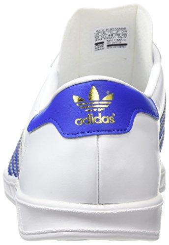 adidas Hamburg, Scarpe da Corsa Uomo Multicolore (Ftwr White/Bold Blue/Gold Met.)