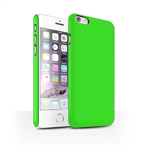 STUFF4 Matte Snap-On Hülle / Case für Apple iPhone 7 Plus / Hellblau Muster / Farben Kollektion Grün
