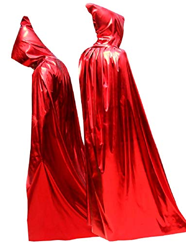 Inception Pro Infinite Taglia Unica - Mantello per Costume - Travestimento - Carnevale - Halloween - Diavolo Rosso Demone Cappuccio - Infernale - Setta - Lucido - Translucido - Adulti - Donna
