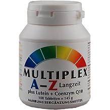 Complejo Multivitamínico A-Z - Liberación Progresiva - 100 Comprimidos Vita World Farmacia Alemania - Vitaminas y Minerales - Luteína y Coenzima Q10