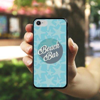 Apple iPhone X Silikon Hülle Case Schutzhülle Strand Urlaub sommer Hard Case schwarz