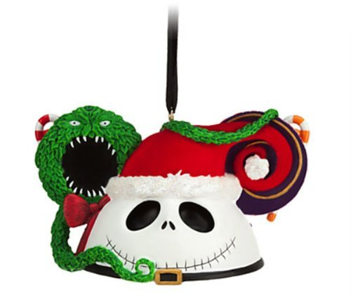 ack Skellington Mickey Maus Ohren hat Ornament ()