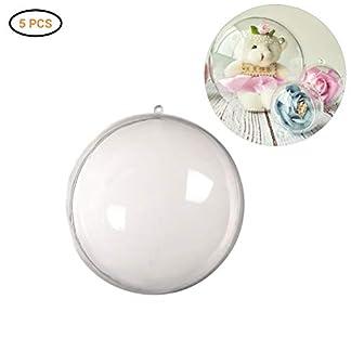 Acrylkugeln-5-Stcke-DIY-Weihnachtskugeln-Deko-Weihnachtskugeln-Transparent-Verzierung-als-Saisonal-Deko-Hochzeitsdeko-hngender-Kugel