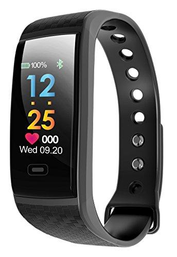 Fitness-Tracker Antaris - BLUTDRUCK- Herzfrequenzanzeige (Pulsmesser), Schrittzähler und Schlafanalyse | Nachrichtenanzeige inkl. Whatsapp