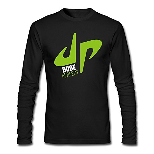 Twiner naber Comfortable Men's YouTube Dude Perfect Trick Shots DP Logo T-shirts Black