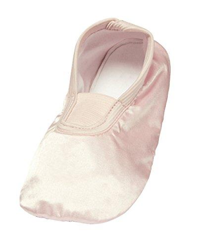 ZAPATO EUROPE Kinder Gymnastikschuhe Tanzschuhe Turnschuhe Slipper Ballettschuhe Ballerina Kinderschuhe Mädchen Schuhe Gummisohle Turnschläppchen Rosa glänzend (27/28)