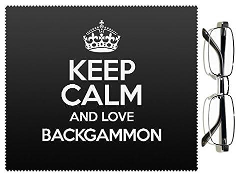 Noir Keep Calm and Love Backgammon Chiffon pour lentille couleur 1128