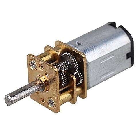 CNBTR 12mm Silver GA12-N20 1000RPM Miniature Metal Electric 12v DC Gear Motor Gearwheel with 10mm Output Shaft