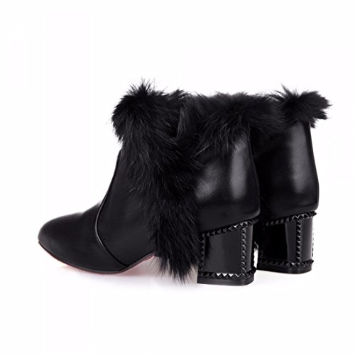 Large size shoes Suede Boots ladies winter boots thickened with black