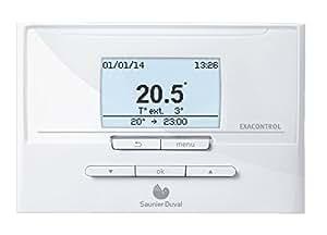 Saunier duval thermostat d'ambiance exacontrol e7c modulant