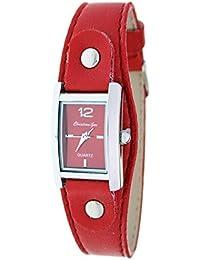 Reloj analógico de señora Christian Gar Mod.Denia 7251- Color Rojo