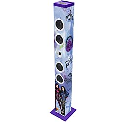 Los Descendientes de Disney-Los Descendants Descendientes, Torre de Sonido con Bluetooth, diseño 100% Disney (Lexibook BT900TD)