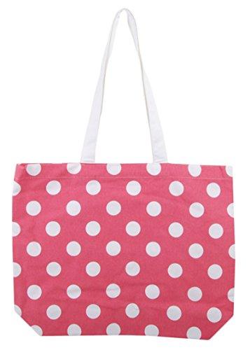 Brizan coton imprimé sac à main féminin & filles fourre-tout sac à bandoulière Saumon
