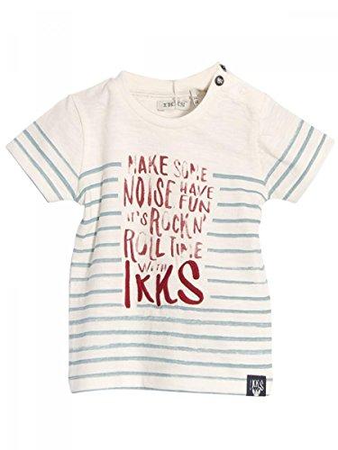 Ikks-T.shirt jersey di cotone, colore: bianco avorio, motivo a righe, da bebè Ikks bianco 18 mesi