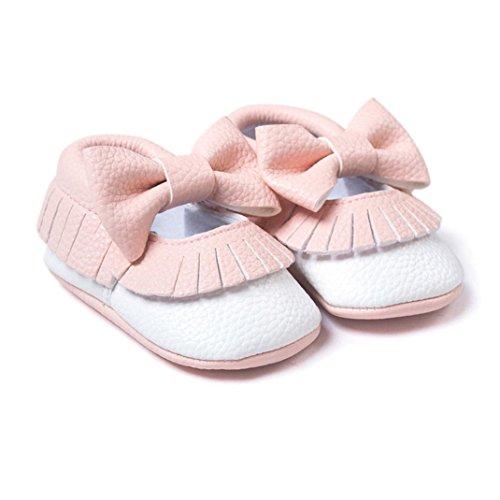 Tefamore Baby Mädchen Bowknot Quasten Schuhe Kleinkind weiche Sohle Turnschuhe Freizeitschuhe Rosa