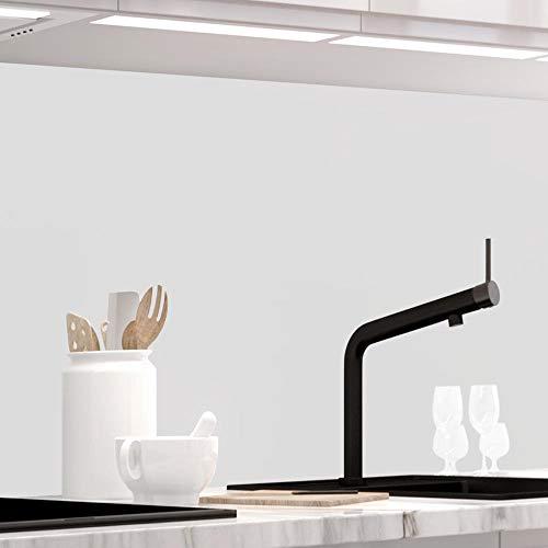 StickerProfis Küchenrückwand selbstklebend Premium Pure White 1.5mm, Versteift, alle Untergründe, Hartschicht, 60 x 400cm
