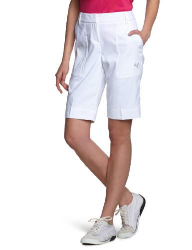 PUMA Golf Damen Kurze Hose Tech Shorts, white, 34, 562701