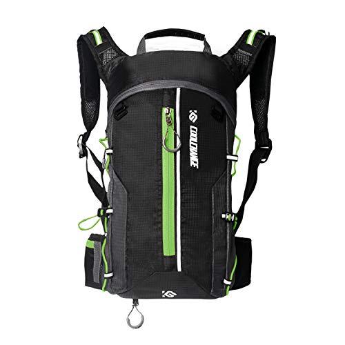 Cassiecy Fahrradrucksack Wasserdicht 10L Outdoor Rucksäcke für Wandern Klettern, Fahrradfahren, Laufsport, Camping Sportrucksack Ultraleicht Fahrrad Rücksack (Grün, One Size)