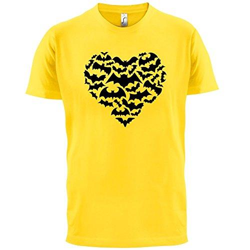 Love Heart Bats - Herren T-Shirt - 13 Farben Gelb