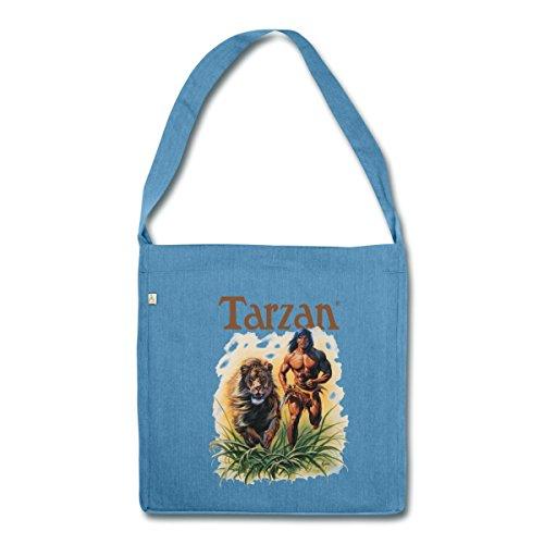 tarzan-court-avec-lion-sauvage-sac-bandouliere-100-recycle-de-spreadshirtr-bleu-chine